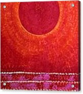 Red Kachina Original Painting Acrylic Print by Sol Luckman