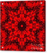 Red Patchwork Art Acrylic Print by Barbara Griffin