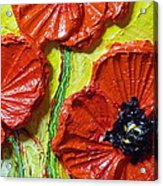 Red Poppies II Acrylic Print by Paris Wyatt Llanso