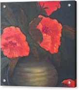 Red Poppies Acrylic Print by Kay Novy