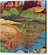 Red Rock Crossing-sedona Acrylic Print by Marilyn Smith