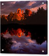 Red Rock Crossing Sedona Acrylic Print by Ray Mathis