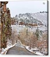 Red Rock Winter Drive Acrylic Print by James BO  Insogna