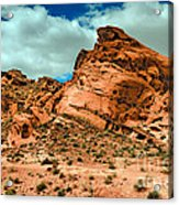 Red Sandstone Acrylic Print by Robert Bales