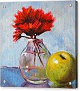 Red Still  Acrylic Print by Nancy Merkle