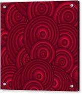 Red Swirls Acrylic Print by Frank Tschakert