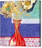 Red Vase I Acrylic Print by Diane Fine