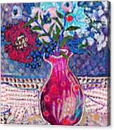 Red Vase IIi Acrylic Print by Diane Fine