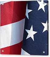Red White And Blue Acrylic Print by Laurel Powell