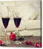Red Wine Acrylic Print by Amanda And Christopher Elwell