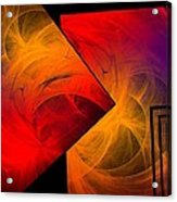 Red Yellow And Blue Mix Acrylic Print by Mario Perez