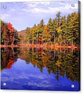 Reflected Autumn Lake Acrylic Print by William Carroll