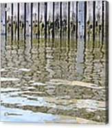 Reflection Of Fence  Acrylic Print by Sonali Gangane