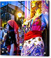Reflections In The Life Of A Mannequin Acrylic Print by Colleen Kammerer