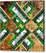 Refresh My Memory - Computer Memory Cards - Electronics - Abstract Acrylic Print by Andee Design
