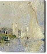 Regatta At Argenteuil Acrylic Print by Pierre Auguste Renoir