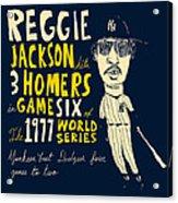 Reggie Jackson New York Yankees Acrylic Print by Jay Perkins