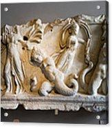 Relief Depicting Gigantomachy Acrylic Print by Artur Bogacki