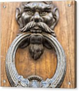 Renaissance Door Knocker Acrylic Print by Melany Sarafis