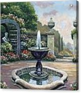 Renaissance Garden Acrylic Print by John Zaccheo
