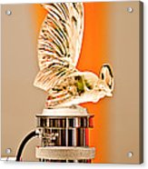 Rene Lalique -coq Nain - 1930 Bentley Speed Six H.j Mulliner Saloon Hood Ornament Acrylic Print by Jill Reger