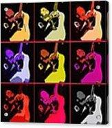 Retro 50s Rockabilly Acrylic Print by Toppart Sweden