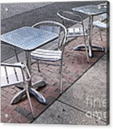Retro Cafe Acrylic Print by Olivier Le Queinec