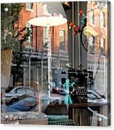 Retro Reflection Acrylic Print by Mary Beth Landis