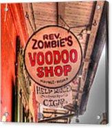 Rev. Zombie's Acrylic Print by David Bearden