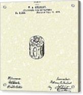 Revolver Cylinder 1876 Patent Art Acrylic Print by Prior Art Design