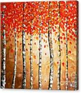 Rich Trees Acrylic Print by Denisa Laura Doltu