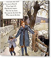 Richardson: Mother Goose Acrylic Print by Granger