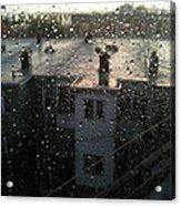 Ridgewood Houses Wet With Rain Acrylic Print by Mieczyslaw Rudek Mietko