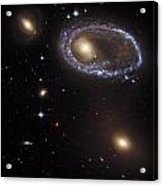 Ring Galaxy Acrylic Print by The  Vault - Jennifer Rondinelli Reilly