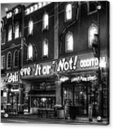 Ripley's Of Gatlinburg In Black And White Acrylic Print by Greg and Chrystal Mimbs