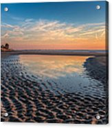 Ripples In The Sand Acrylic Print by Debra and Dave Vanderlaan