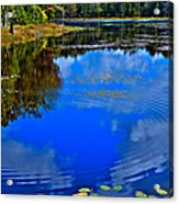 Ripples On Fly Pond - Old Forge New York Acrylic Print by David Patterson