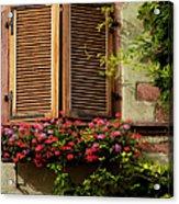 Riquewihr Window Acrylic Print by Brian Jannsen