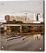 River Structures13 Acrylic Print by Susan Crossman Buscho
