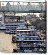 Riverboat Row Acrylic Print by Mel Steinhauer