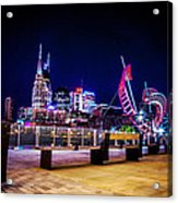 Riverfront Vista Acrylic Print by Lucas Foley