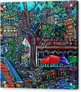 Riverwalk Acrylic Print by Patti Schermerhorn