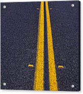 Road Stripe  Acrylic Print by Garry Gay