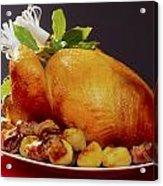 Roast Turkey Acrylic Print by The Irish Image Collection