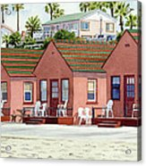 Robert's Cottages Oceanside Acrylic Print by Mary Helmreich