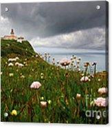 Roca Lighthouse Acrylic Print by Carlos Caetano
