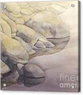 Rock Meets Water Acrylic Print by Robert Hooper