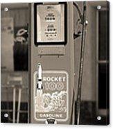 Rocket 100 Gasoline - Tokheim Gas Pump 2 Acrylic Print by Mike McGlothlen