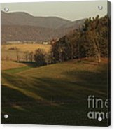 Rockingham County Virginia Meadow Acrylic Print by Anna Lisa Yoder