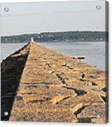 Rockland Breakwater Lighthouse Coast Of Maine Acrylic Print by Keith Webber Jr